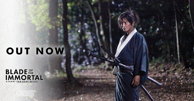 Happy Birthday to BLADE OF THE IMMORTAL star, Takuya Kimura.  Celebrate by watching his new film in NZ cinemas now.