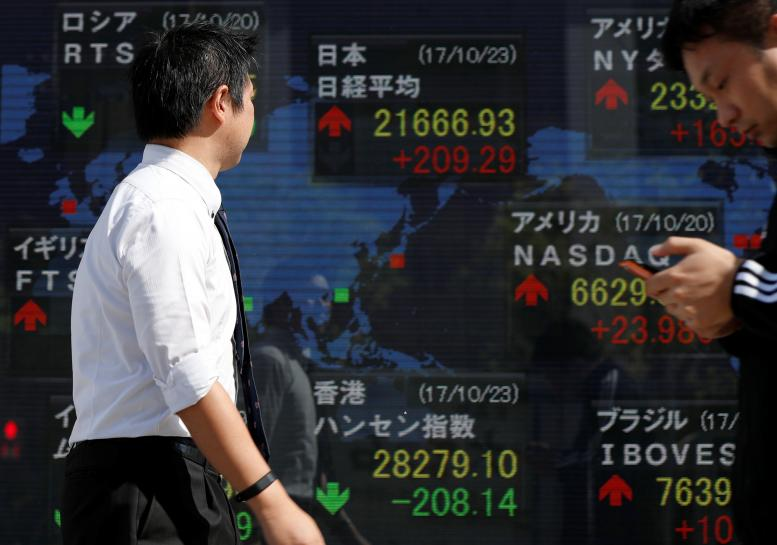 Asia shares down on caution over US tax reform plan, sterling falls