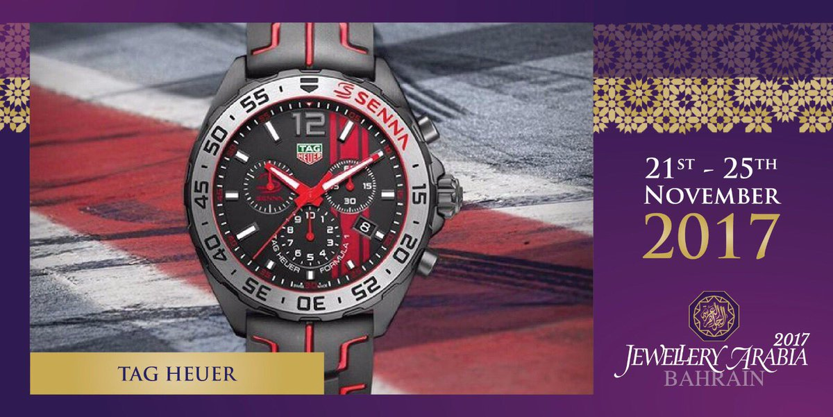 test Twitter Media - It is our pleasure to introduce the TAG Heuer Formula 1 Senna Special Edition Chronograph 43 MM inspired by the #F1 legend, Ayrton Senna #RememberSenna #Monaco 💍 #tagheuer #jewelleryarabia2017 #elegant #beautiful #classy https://t.co/BhapeLLg4f