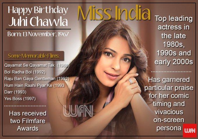Wish you a very happy birthday Juhi Chawla