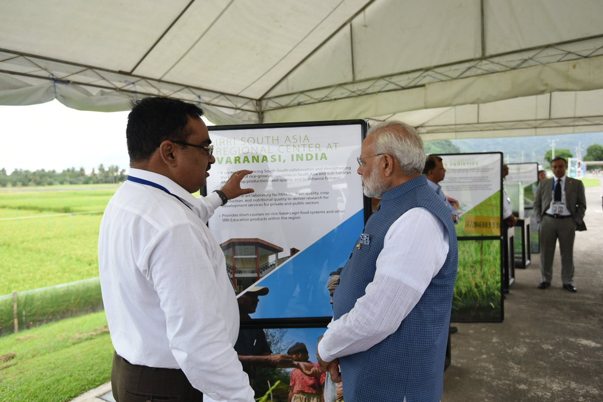 Saw a detailed exhibition on rice varieties and the impressive work done by IRRI with women farming cooperatives.