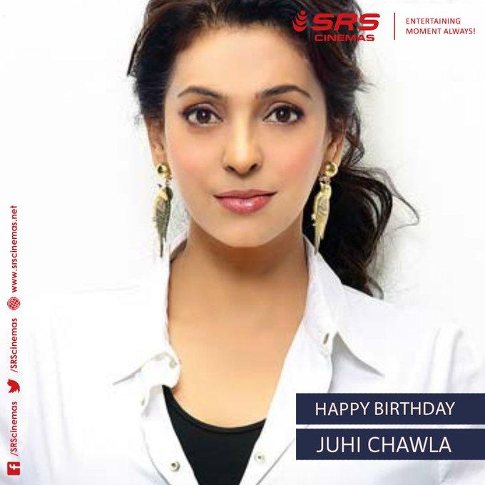 Wishing the evergreen actress, Juhi Chawla, a very happy birthday.