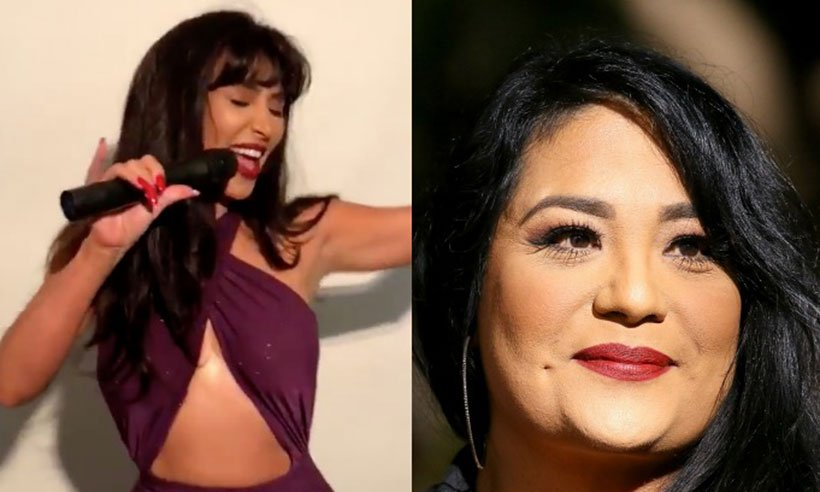 Selena Quintanilla's sister reacts to @KimKardashian and @ddlovato's Halloween costumes: