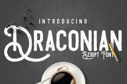 Draconian Vintage Script Demo Fonts freebies design SocialMedia