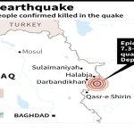 More than 200 killed as strong quake rocks Iran-Iraq border