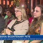 First Lady joins faithful to mark Prophet Baha'u'llah's birth
