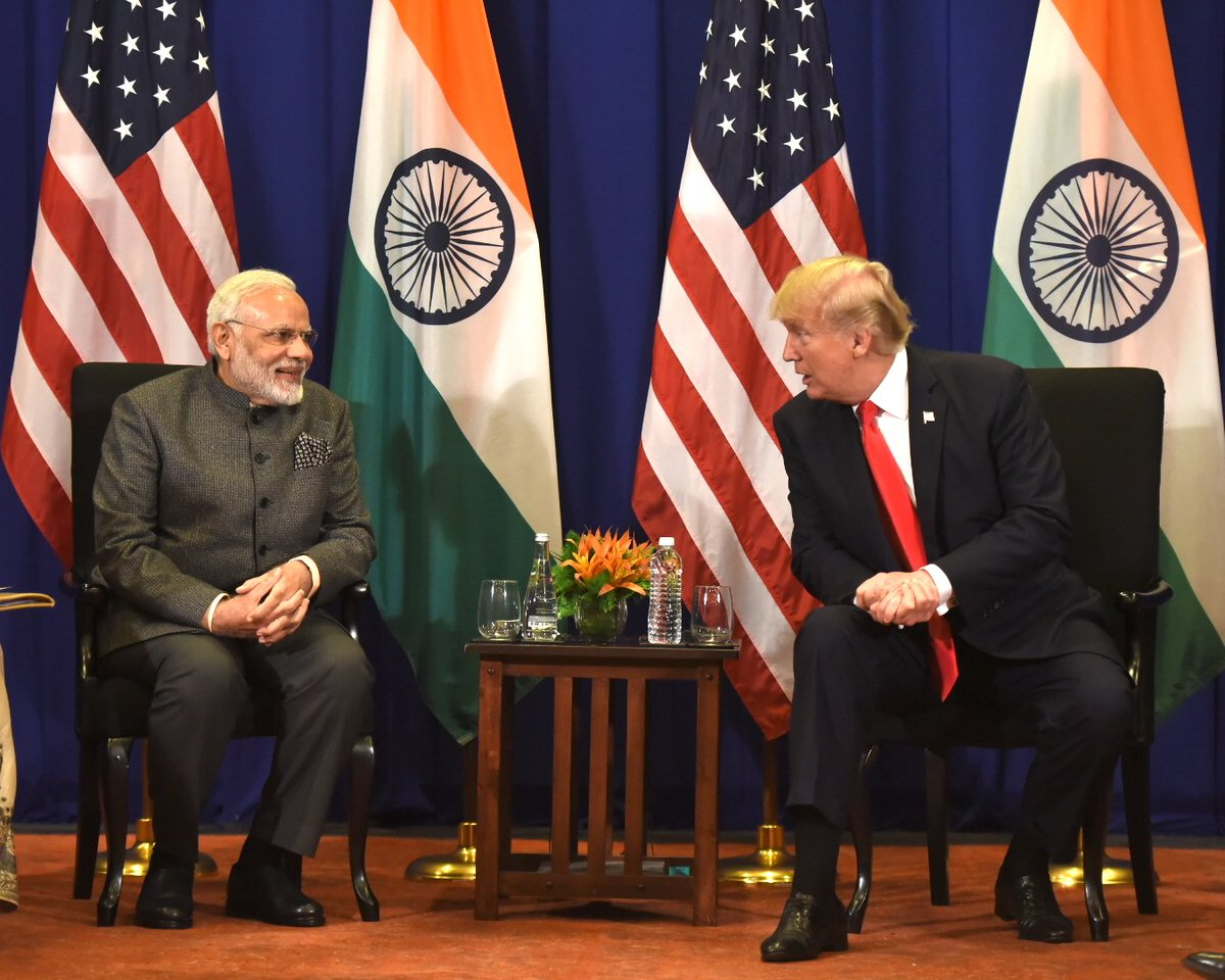 Held productive talks with @POTUS on further strengthening India-USA relations. @realDonaldTrump