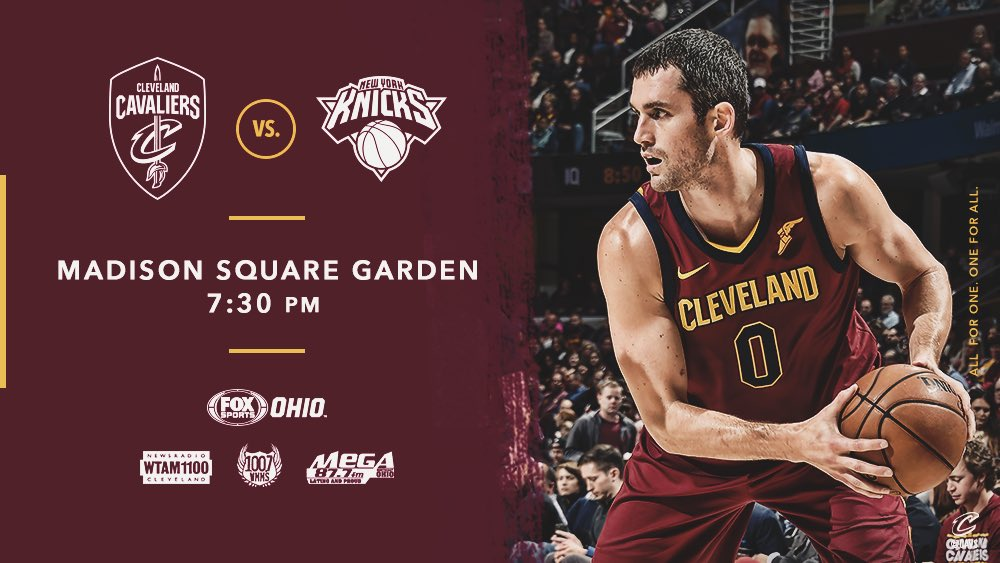 Our road trip continues tonight in New York City!  #CavsKnicks PREVIEW: https://t.co/XANWtHOUa1  #AllForOne https://t.co/A8Tp0jbQS9