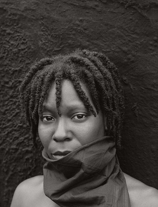 Happy birthday to Whoopi Goldberg. Photo by Herb Ritts, 1987.