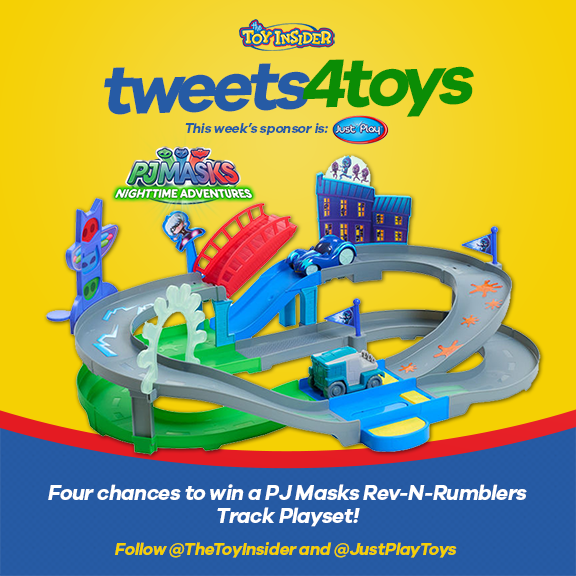 RT & Follow @JustPlayToys to enter to #win a #PJMasks Rev-N-Rumblers Track Playset! #tweets4toys #giveaway https://t.co/CA686isYys