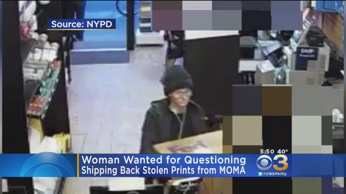 Police Search For Woman Seen Mailing Stolen Art To Museum