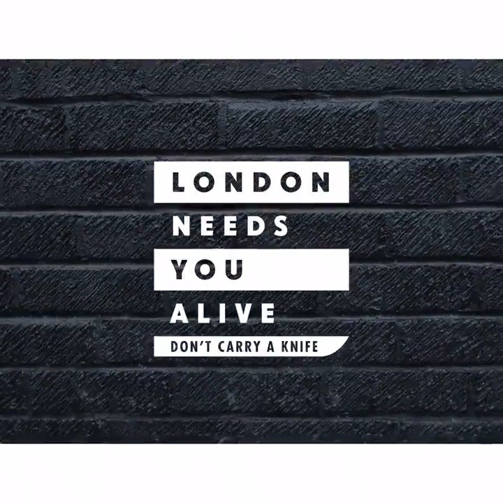 Carrying a knife won't keep you safe. Help carry a new message. #LondonNeedsYouAlive #LNYA https://t.co/GkOGJu6ySh