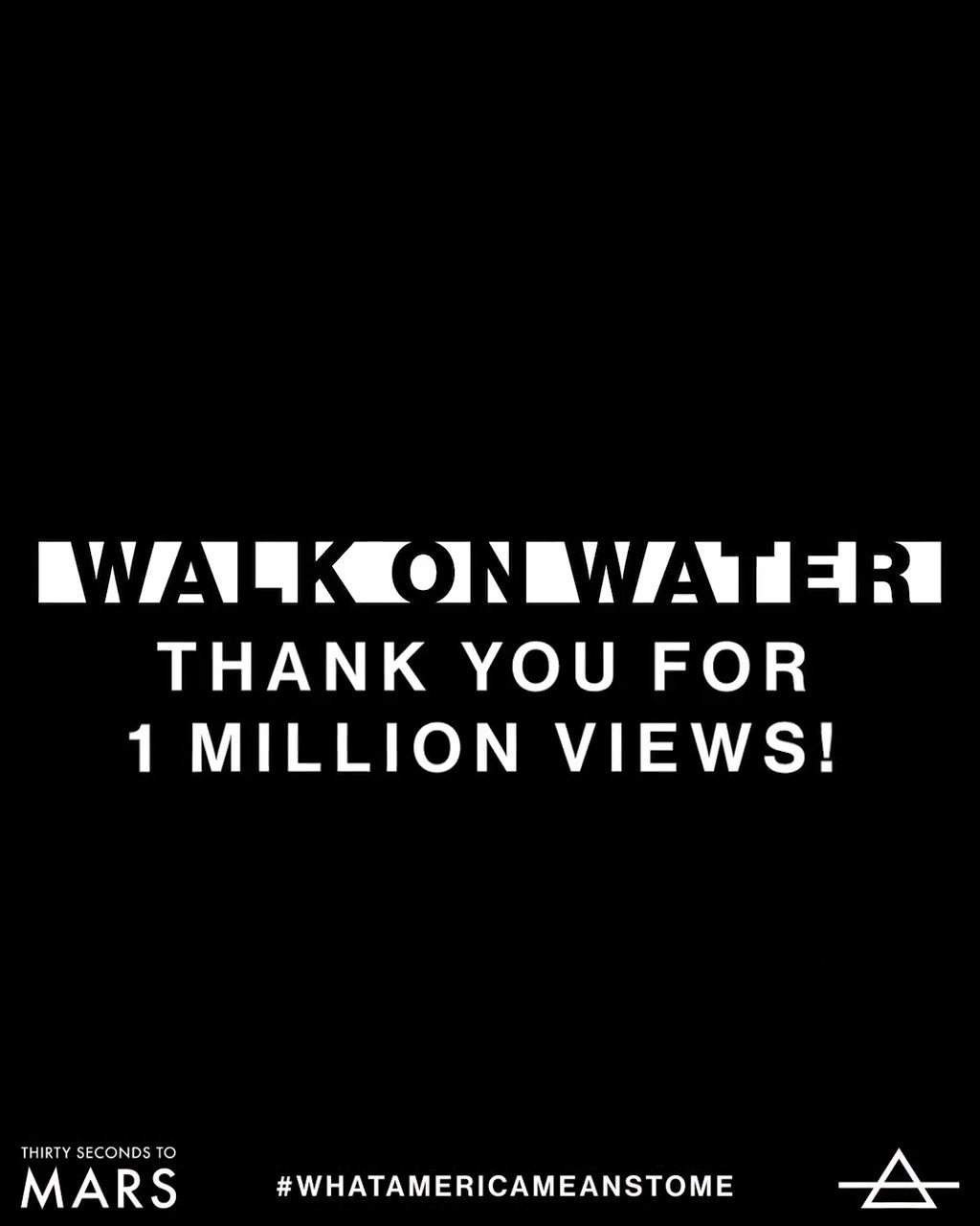 Thank you. ⨺ #WalkOnWater #1Million https://t.co/6RlIrrO2J0