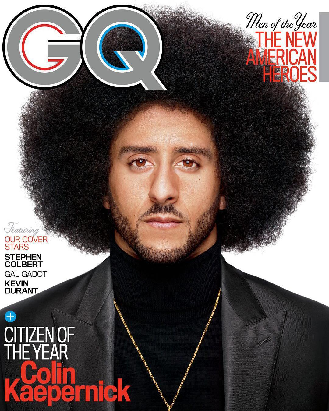 GQ names Colin Kaepernick their Citizen of the Year. https://t.co/HrwCubufO5 https://t.co/8ILwietaCw