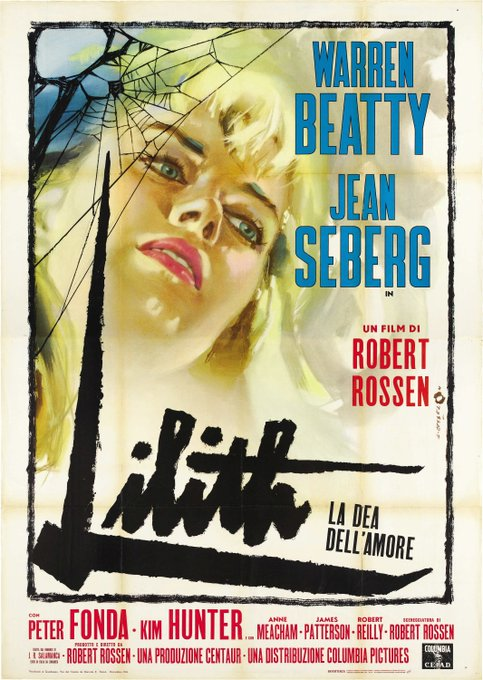 Happy birthday to the exquisite Jean Seberg - LILITH - 1964 - Italian release poster