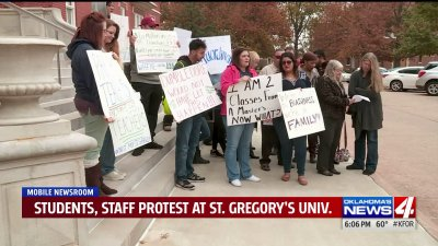 Students, staff protest closure of St. Gregory's University