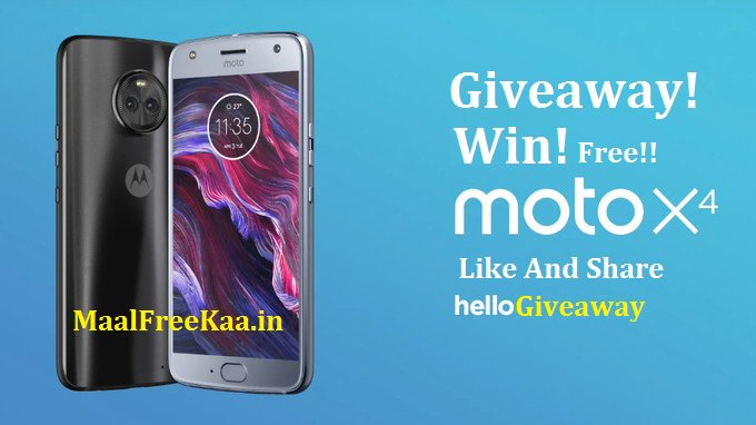 Free Giveaway !! Win New Branded Free Moto X4 phone