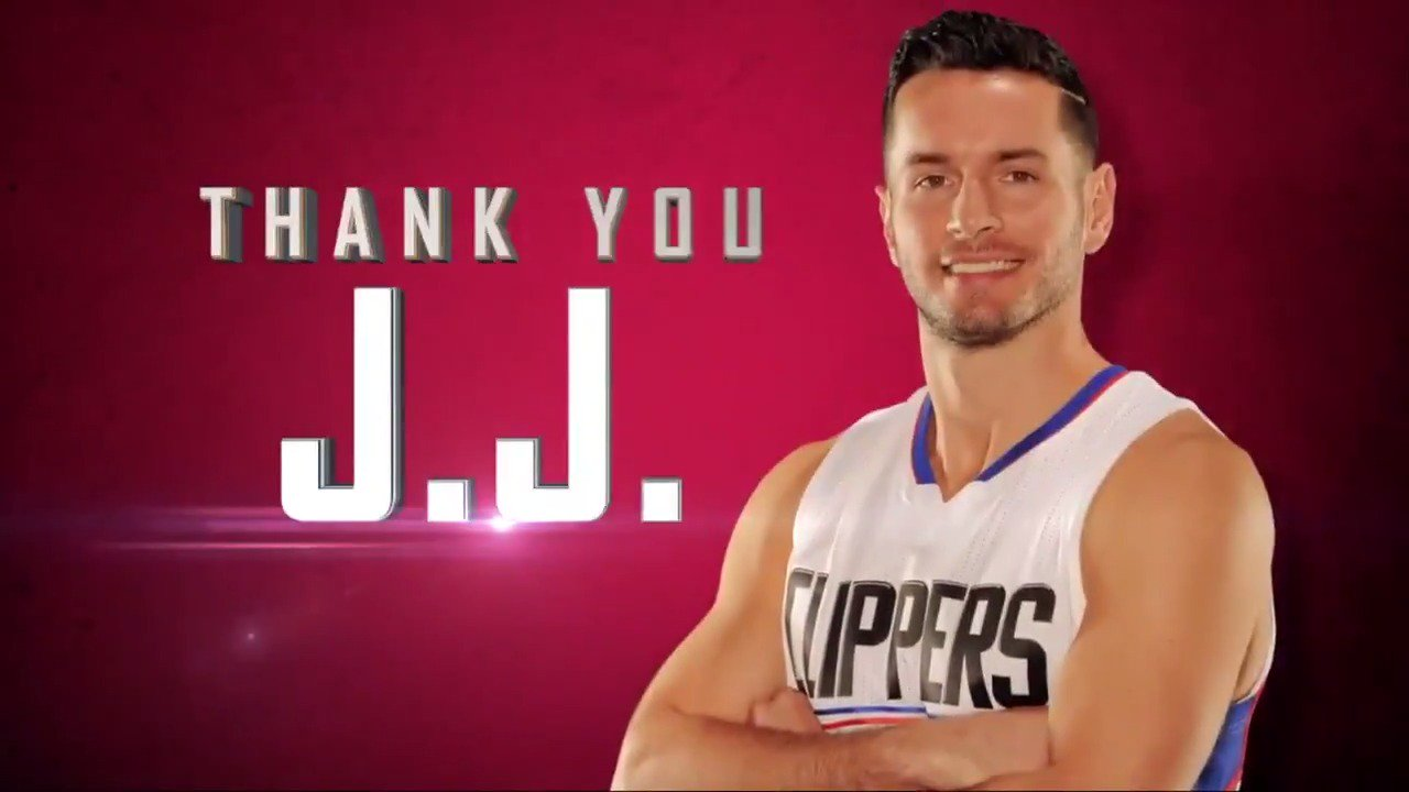 The @LAClippers welcome back J.J. Redick to Staples! https://t.co/V1wmfBIfAs