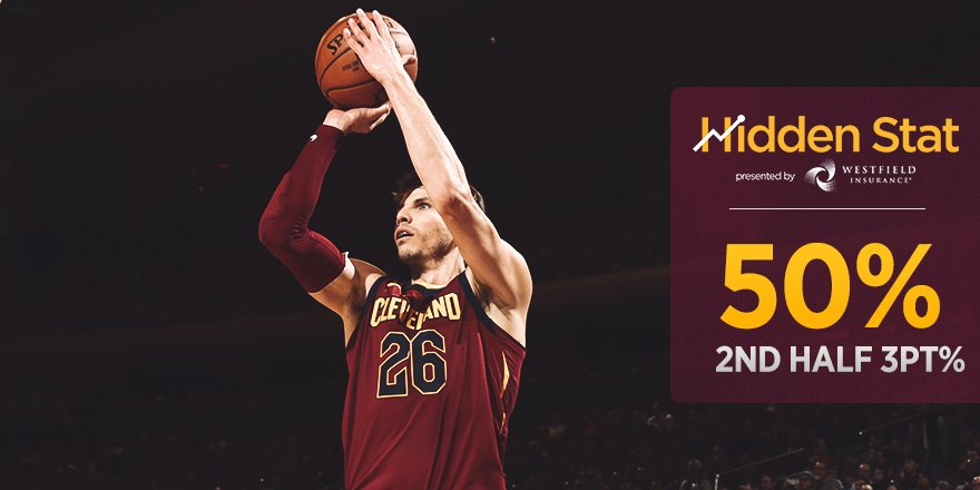 �� @WestfieldIns #HiddenStat ��  The squad sank 14/28 threes in the second half.  #AllForOne https://t.co/8NYggZbrAe