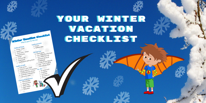 Great freebie this week! Download for free the FlyingKids Winter Vacation Checklist
