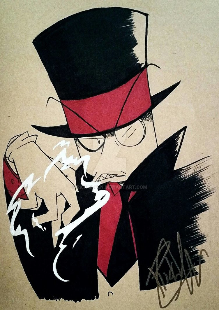 Late night drawing of Black Hat.  #Villainous #doodle https://t.co/LzjxT5pYx8