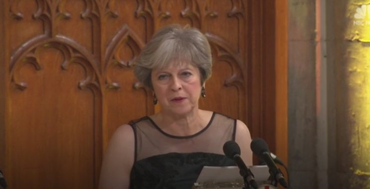 British PM Theresa May accuses Russia of using fake news as a weapon