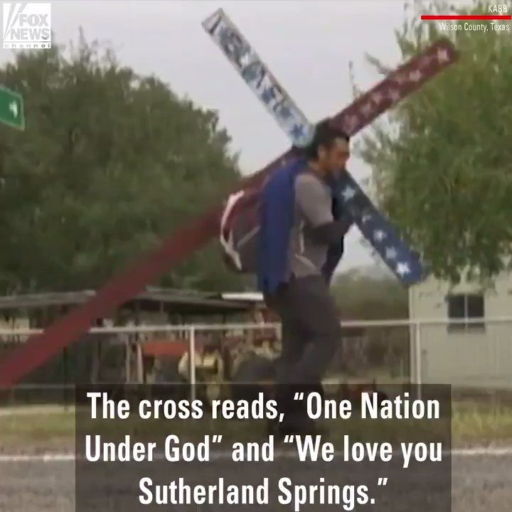 Texas man honors shooting victims, carries 150-pound cross to Sutherland Springs https://t.co/6d30hETu21 https://t.co/t1Sgw9gCHb