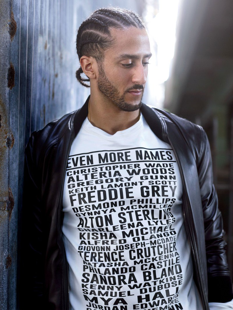 "Get to know the designer behind Colin Kaepernick's ""Even More Names"" tee. https://t.co/ztMpP4dqLd https://t.co/HaGajyroem"