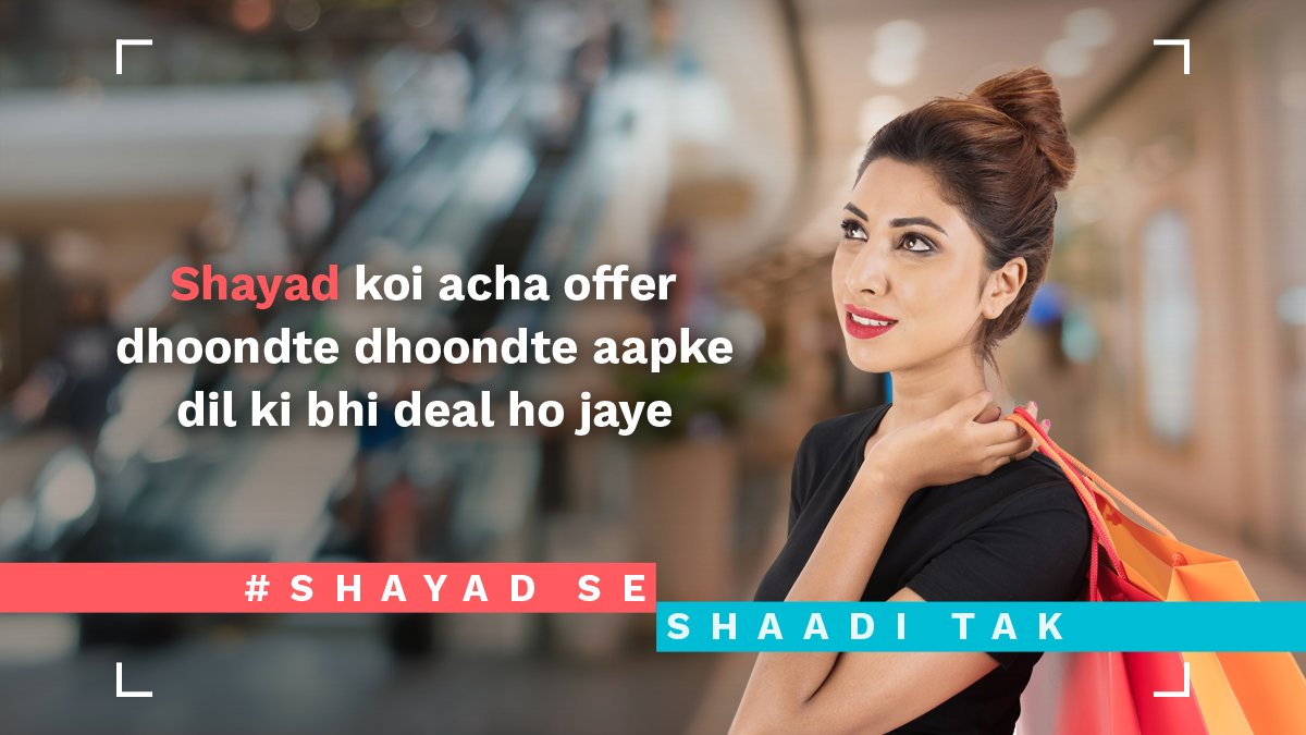 test Twitter Media - Shopping will only help you find the best deals, but not the best life partners. #ShayadSeShaadiTak https://t.co/Q6qeQg5wHx