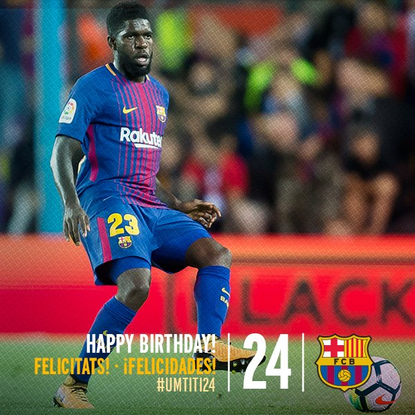 Happy birthday to Samuel Umtiti and Thomas Vermaelen!