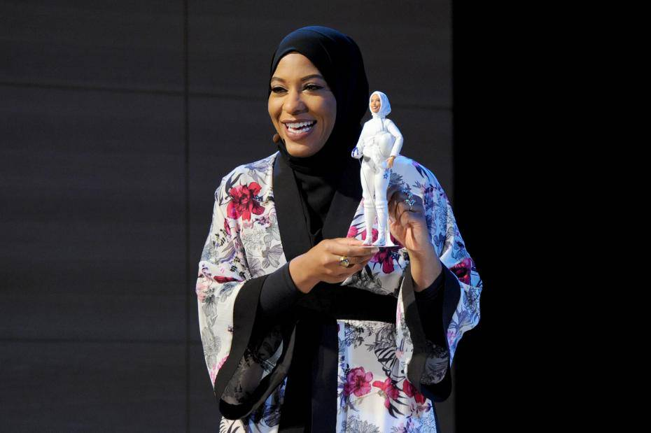 New Barbie inspired by the first American to compete at the Olympics wearing a hijab https://t.co/Lallkx2wAu https://t.co/EcXvppAT92