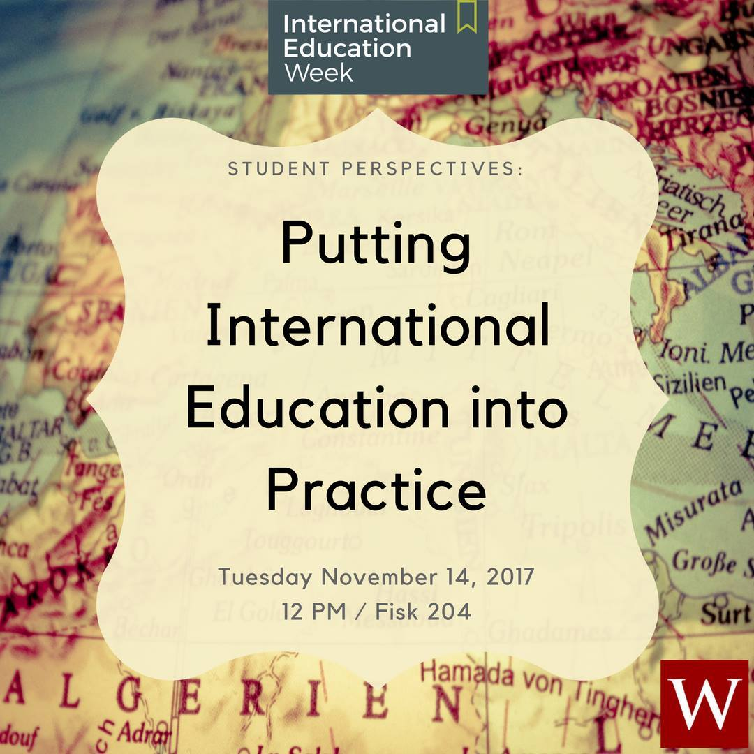 test Twitter Media - Today at 12pm in Fisk 204: Putting International Education into Practice. Student presenters showcase research, internships, academic study, art, and independent work related to their international experiences: https://t.co/4Sejh76gUp #IEW2017 🌎 https://t.co/fwUaHeewMT