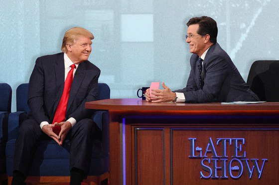 Stephen Colbert on why Donald Trump is a lame guest https://t.co/zpWKLWdXwD https://t.co/pVQsVgWpxr