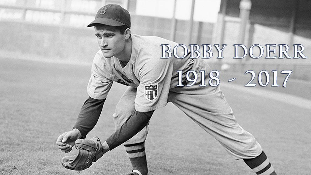 We mourn the loss of Hall of Famer Bobby Doerr. He was the oldest living player at age 99. https://t.co/IVaeXm2nGZ https://t.co/9Is29tXqtW