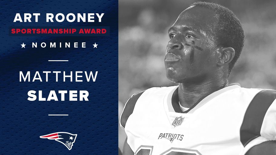 Our special teams captain and our 2017 Art Rooney Sportsmanship Award nominee.  Congratulations Matthew Slater! https://t.co/5o919RrcEI
