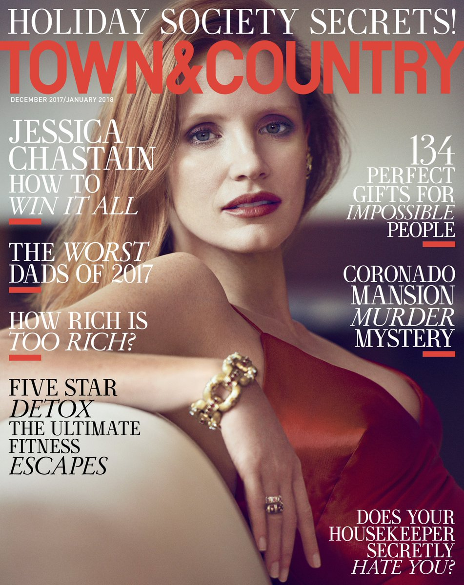 .@Jes_Chastain featured on the cover of @TandCmag wearing Ralph Lauren Fall 2017 Collection. #RLFall2017 https://t.co/XN2hJLLC1E