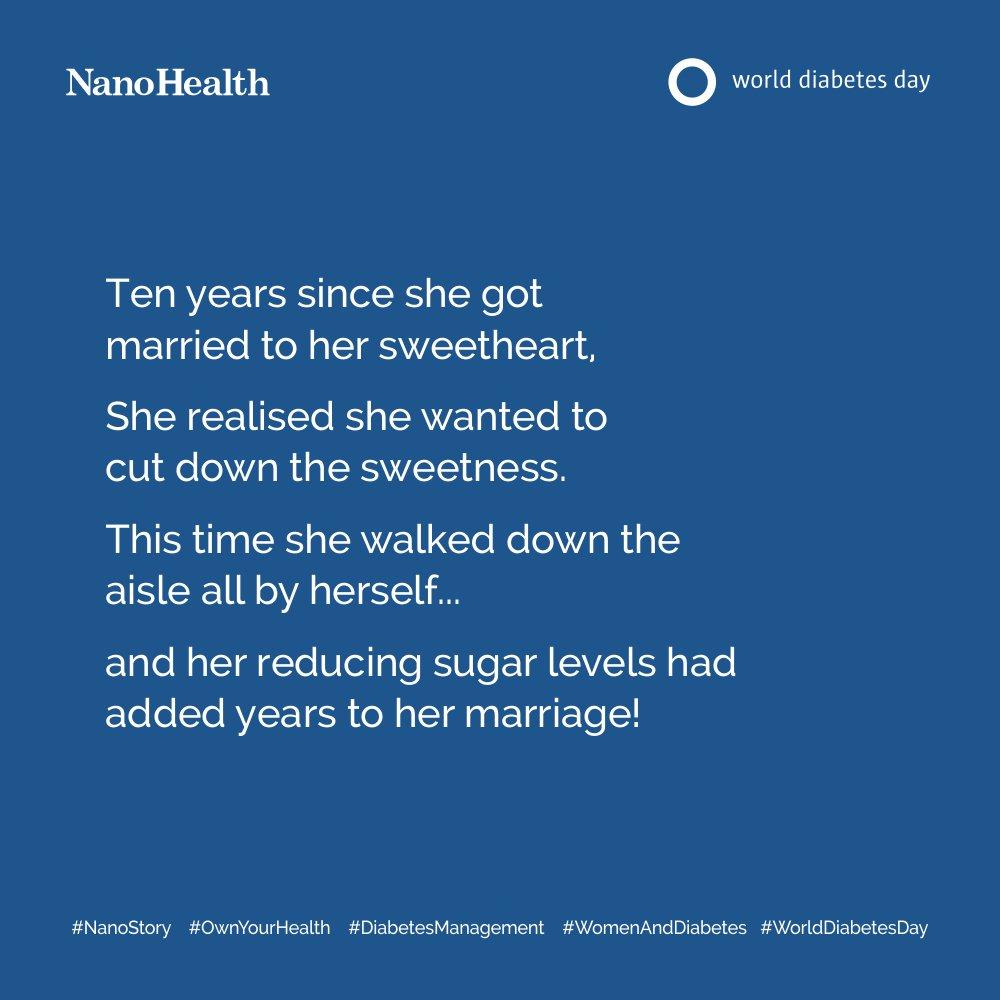 RT @NanoHealth1: #WorldDiabetesDay #WomenandDiabetes #Sugar #Sweetness #OwnYourHealth #NanoStory https://t.co/s7l0GdqMhT