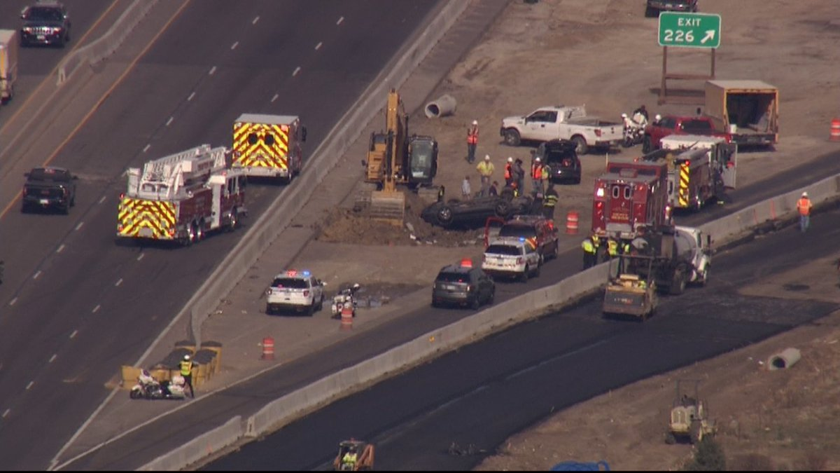Deadly Rollover Crash Causes Delays NB I-25