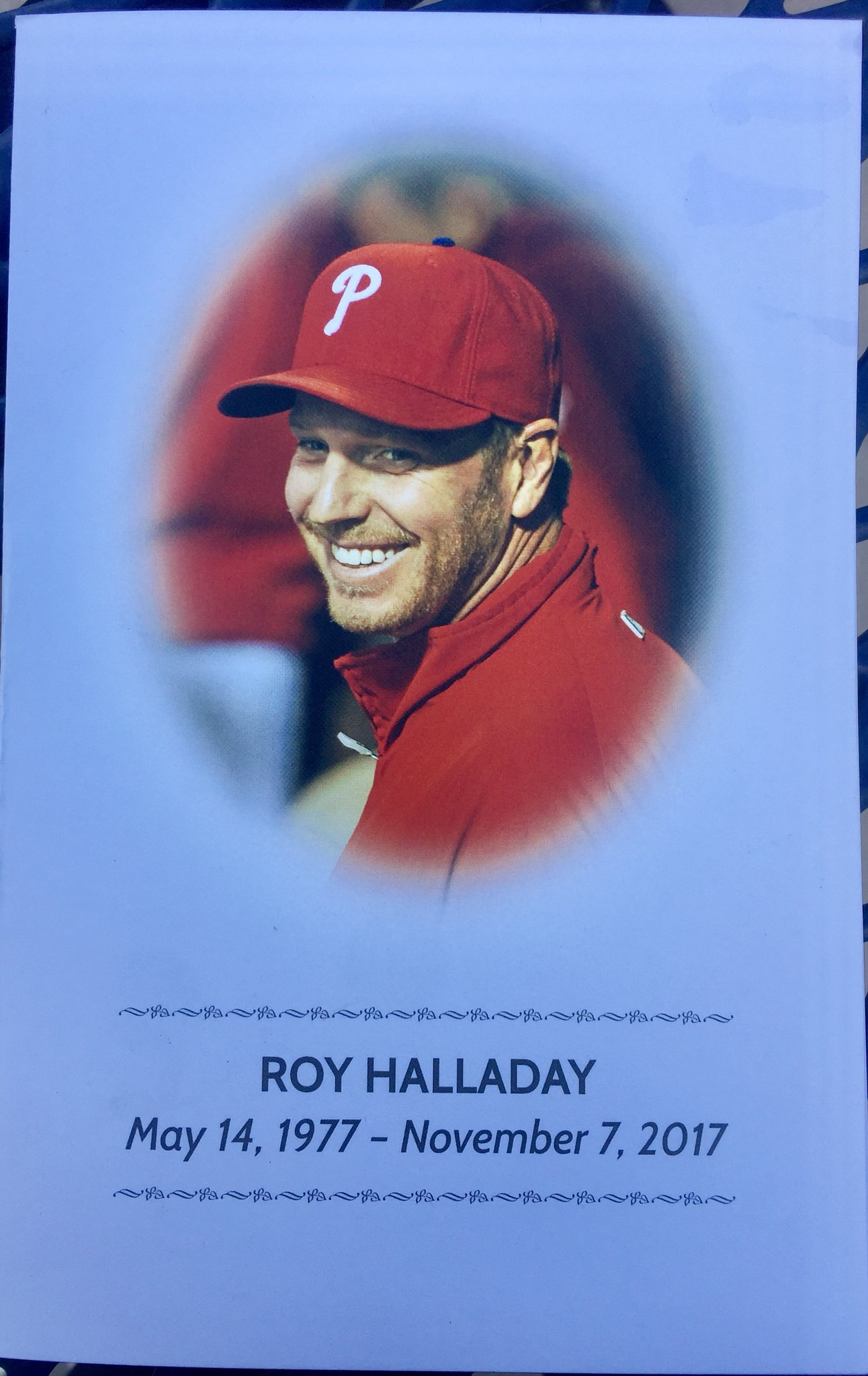 Roy Halladay's memorial service program. https://t.co/UKR9hRZKFG