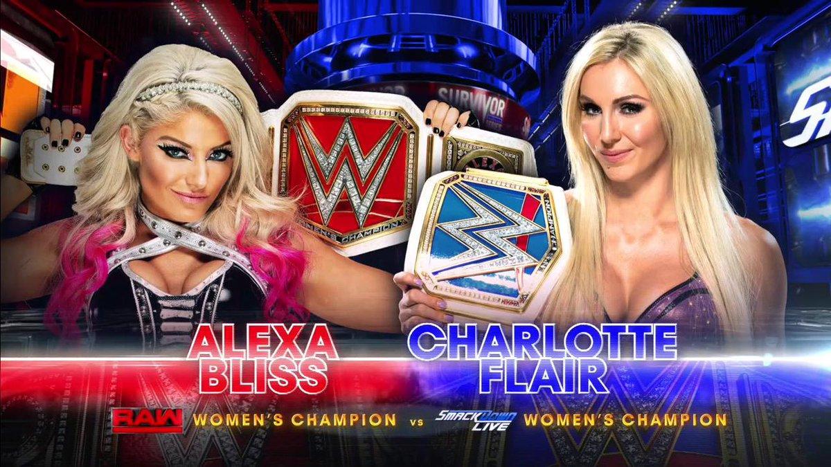A GODDESS. A QUEEN. A CAN'T MISS MATCH.#SurvivorSeries #SDLive @AlexaBliss_WWE @MsCharlotteWWE