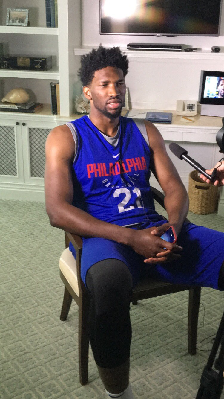 Embiid's averages on the year:  20.9 PTS, 10.8 REBS, 1.4 BLKS  #SixersAllAccess https://t.co/YqCJpJIuy6