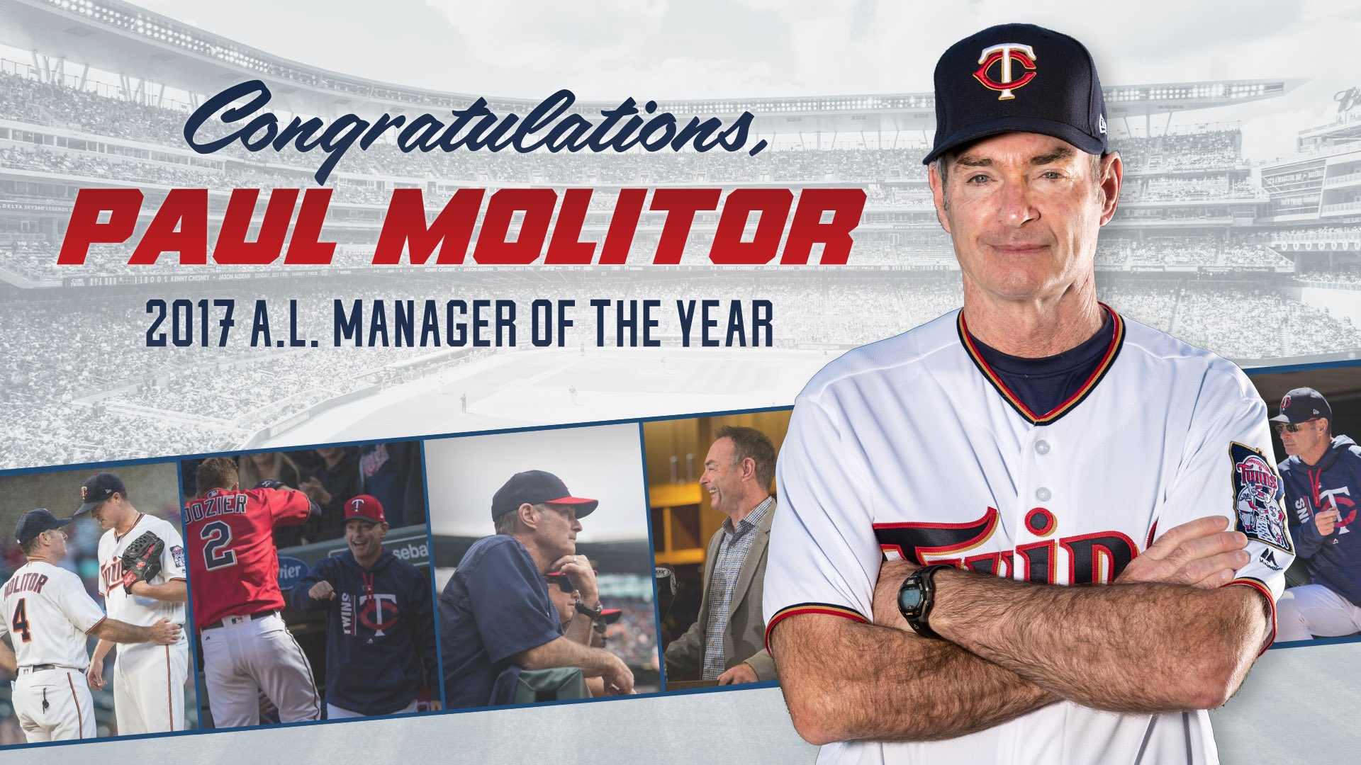 Congrats Mollie on being named the American League Manager of the Year! A well deserved honor! #MNTwins https://t.co/0IVhK5Ui7W