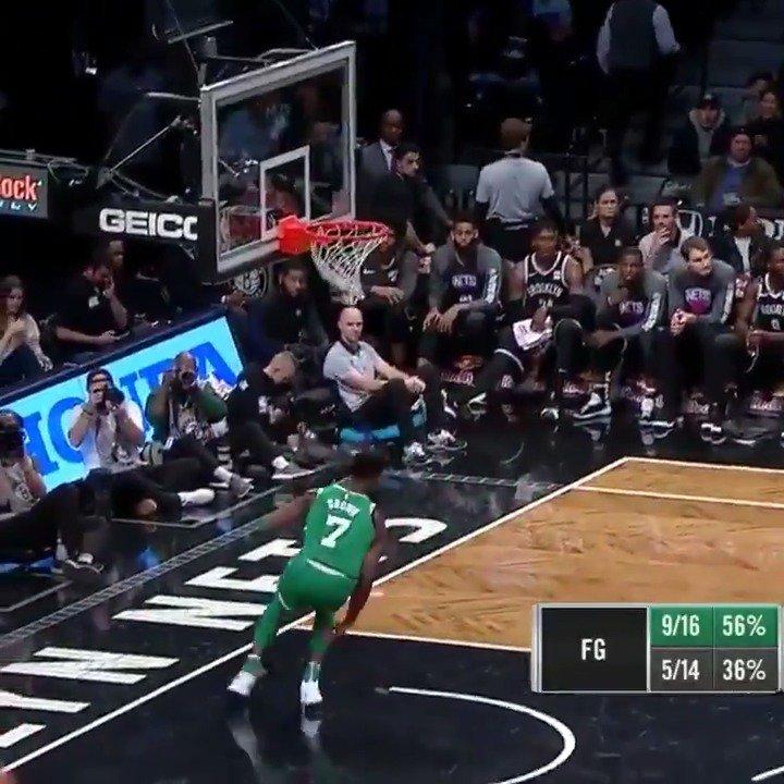 Jaylen Brown is set for take off! #Celtics https://t.co/axgSCQBa8B
