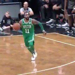 Kyrie starts the break...Jayson Tatum finishes it! #Celtics https://t.co/zEryFhj3KQ