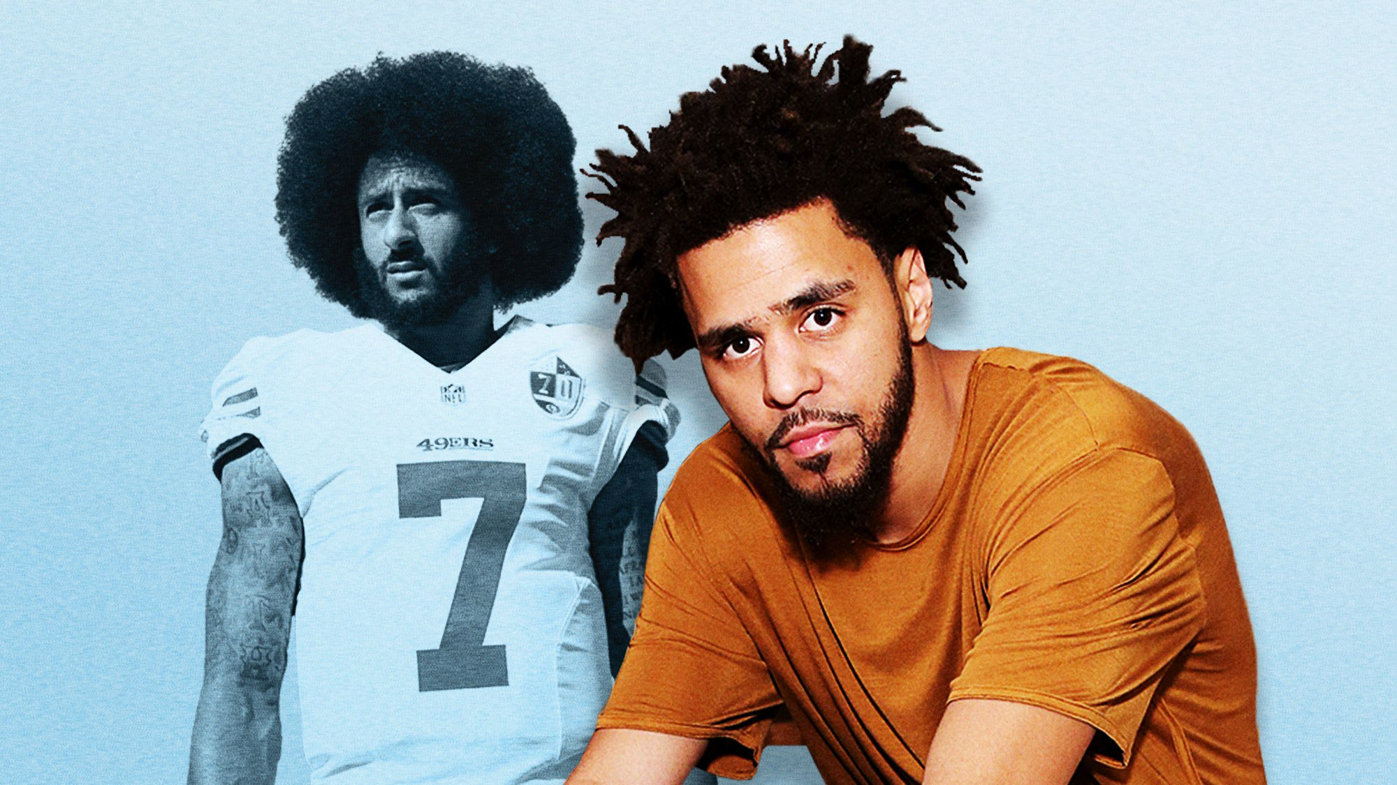 "J. Cole: Colin Kaepernick has 'the biggest balls in sports."" https://t.co/PKJrNgXk7o https://t.co/XMVV2nG75F"
