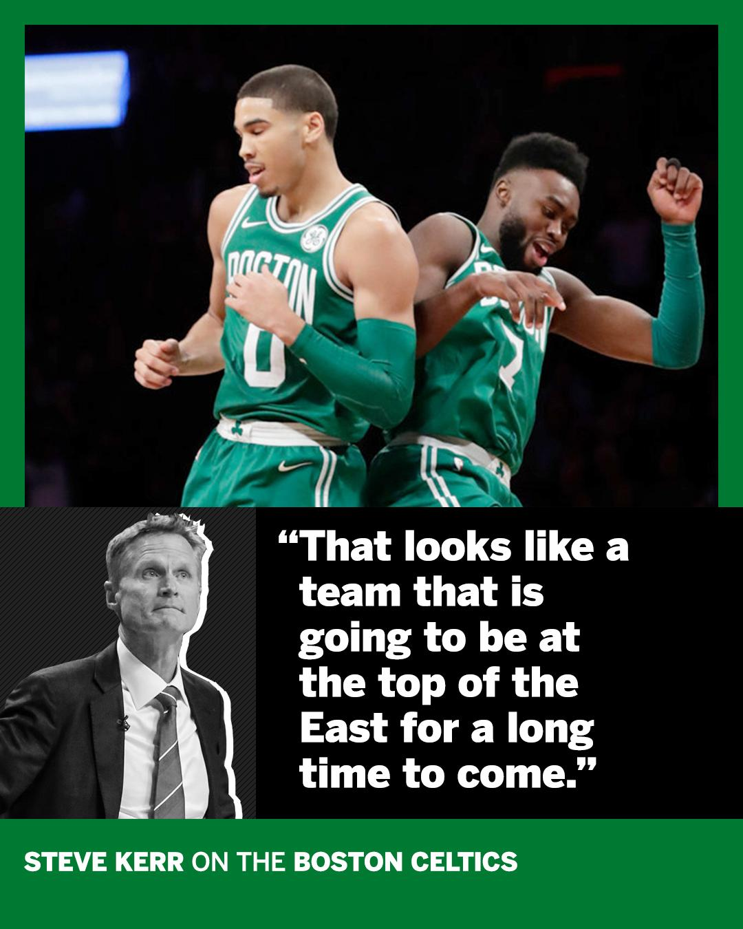 The Celtics' 13 straight wins have Steve Kerr looking to the future. https://t.co/WBAP9Cyo6i