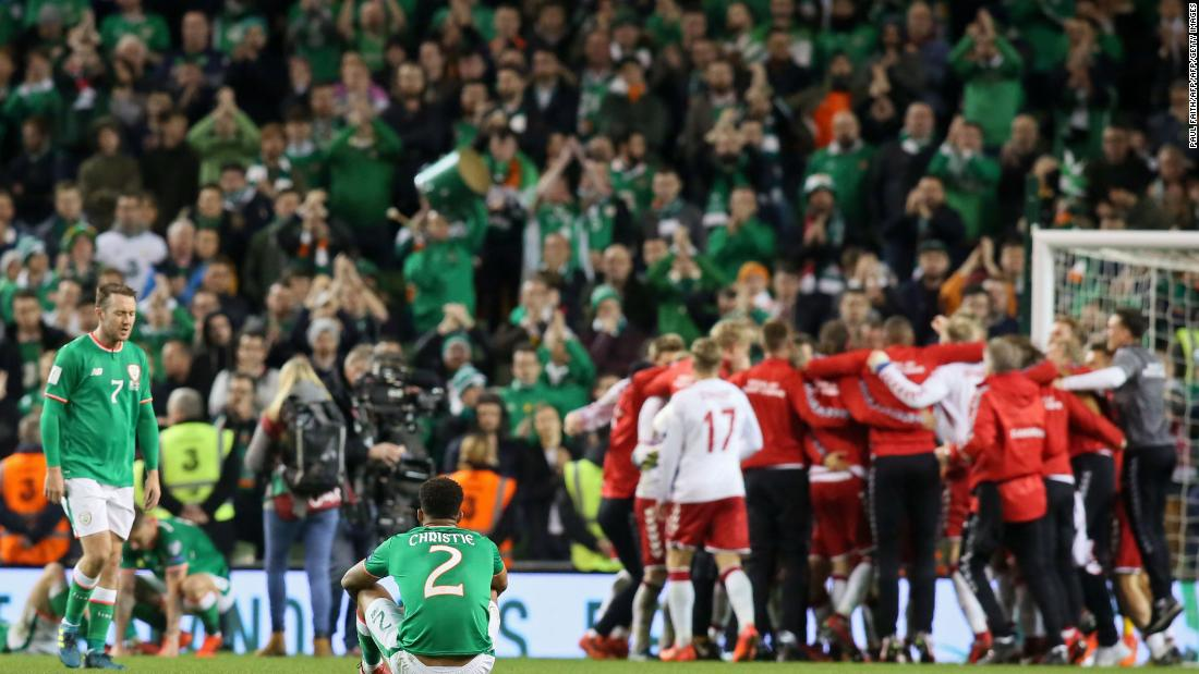 Denmark book World Cup spot with 5-1 Ireland rout