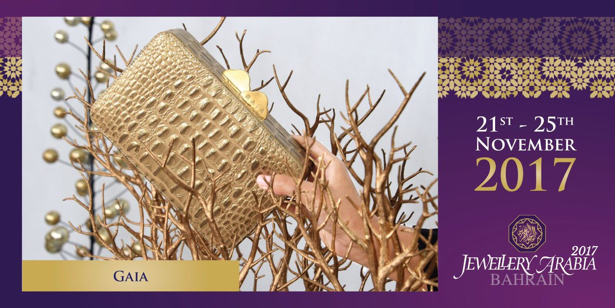 test Twitter Media - Gaia luxury brand inspired by mother earth, and this is their beautiful box clutch that you can get at Jewellery Arabia this year 💍 #gaialuxury #jewelleryarabia2017 #elegant #beautiful #classy #amp https://t.co/FfYSz5JNRF