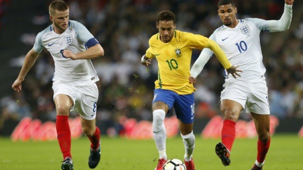 Young England stifle Neymar's Brazil