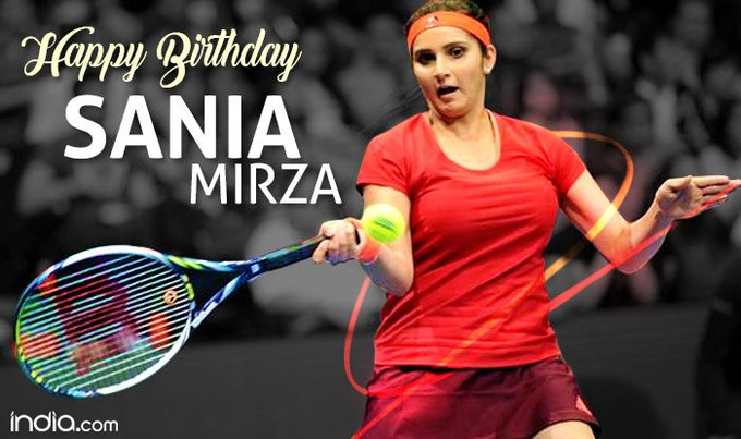 Happy birthday to Sania Mirza